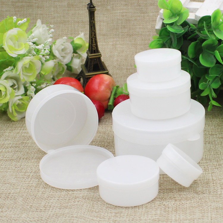 200pcs/lot 5g 10g Empty Cream Jar Cosmetic Container Sample Trave Display Case Makeup Packaging Mini plastic bottle small tins 200pcs x 200g big frosted abs plastic cosmetic packaging bath salt jar with wooden spoon