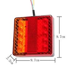 1 stuk 12 v LED Trailer Licht vrachtwagen vrachtwagen kamp auto accessoire achter stop brake richtingaanwijzer achterlicht