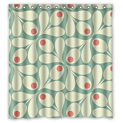ANU Orla Kiely Custom Shower Curtain 66 X72 Waterproof Fabric For Bathroom