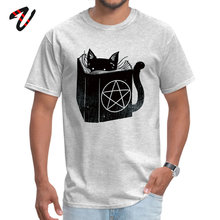witchcraft cat Geocaching T-Shirt for Men Holland Sleeve Classic Tops & Tees Funny Summer/Fall O Neck Fitness Tight