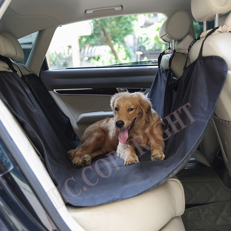 Free Shipping Black Color Cradle Dog Truck Car Rear Back Seat Cover Pet Mat Blanket Hammock Cushion Carpet Protector For Dog
