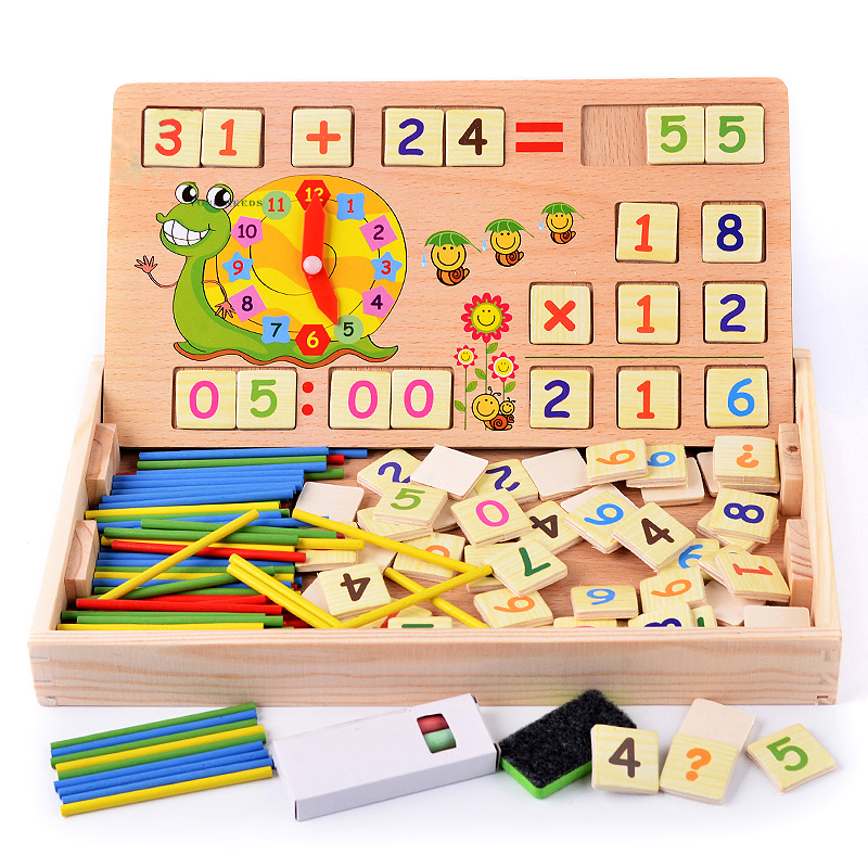 Kids Toys Count Sticks Math Wooden Learning Education Math Toys Digital Operation Box Educational Blocks Drawing Toy Children