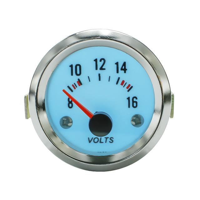 Racing 52mm Eléctrico Luminiscente voltímetro voltios gauge con transformador reductor metro del coche/auto gauge YC100942