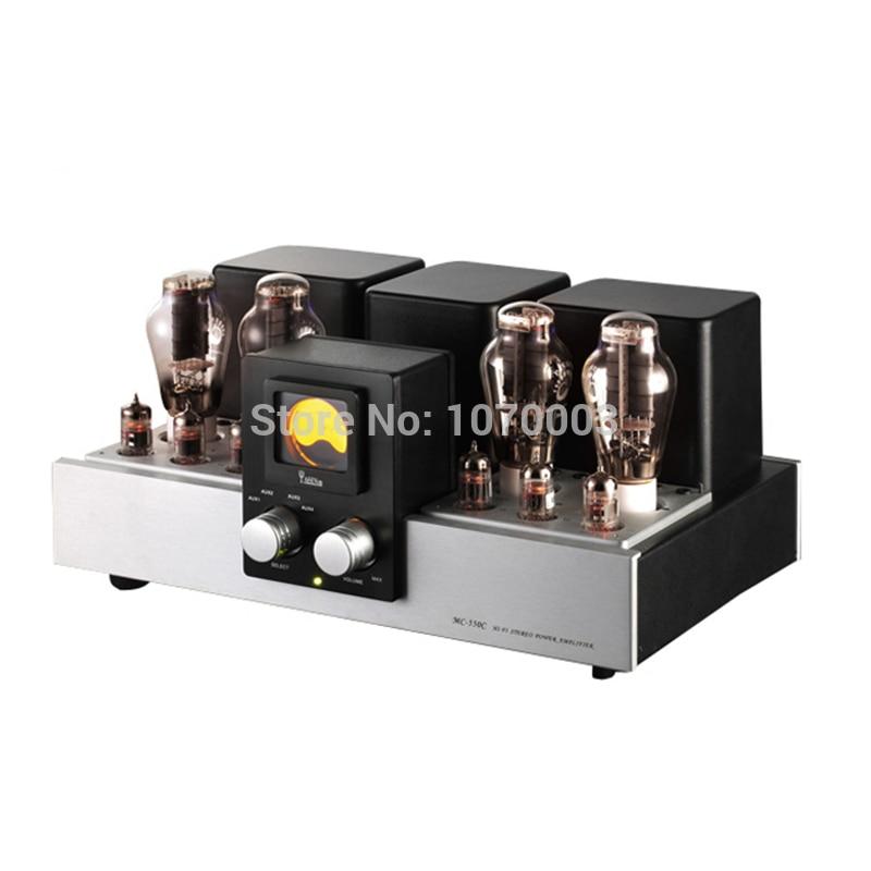 K-020 YAQIN MC-550C New Version Vacuum Tube Amplifier SRPP Circuit 300B*4 Class AB1 Power Amplifier 2x18W 110V/220V yaqin ms 6v6 integrated vacuum tube amplifier srpp circuit 6p6px4 class ab1 amplifier amplifier power