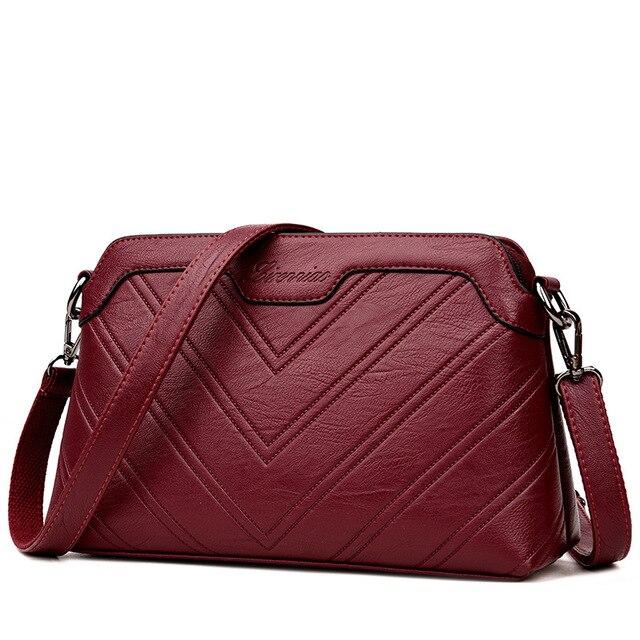 Chu Jj Fashion Thread Women Bags S Genuine Leather Handbags All Match Shoulder Crossbody