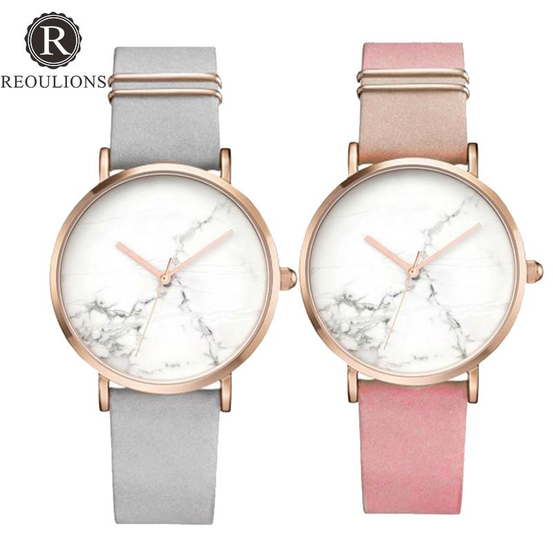 2a62b6f3c81 ... Relógios para Mulheres Relógio de Mármore Reoulions 2018 Novos da Forma  Simples Quente Senhoras de Couro Relógios Pulso Quartzo Dom Relógio Montre  Femme ...