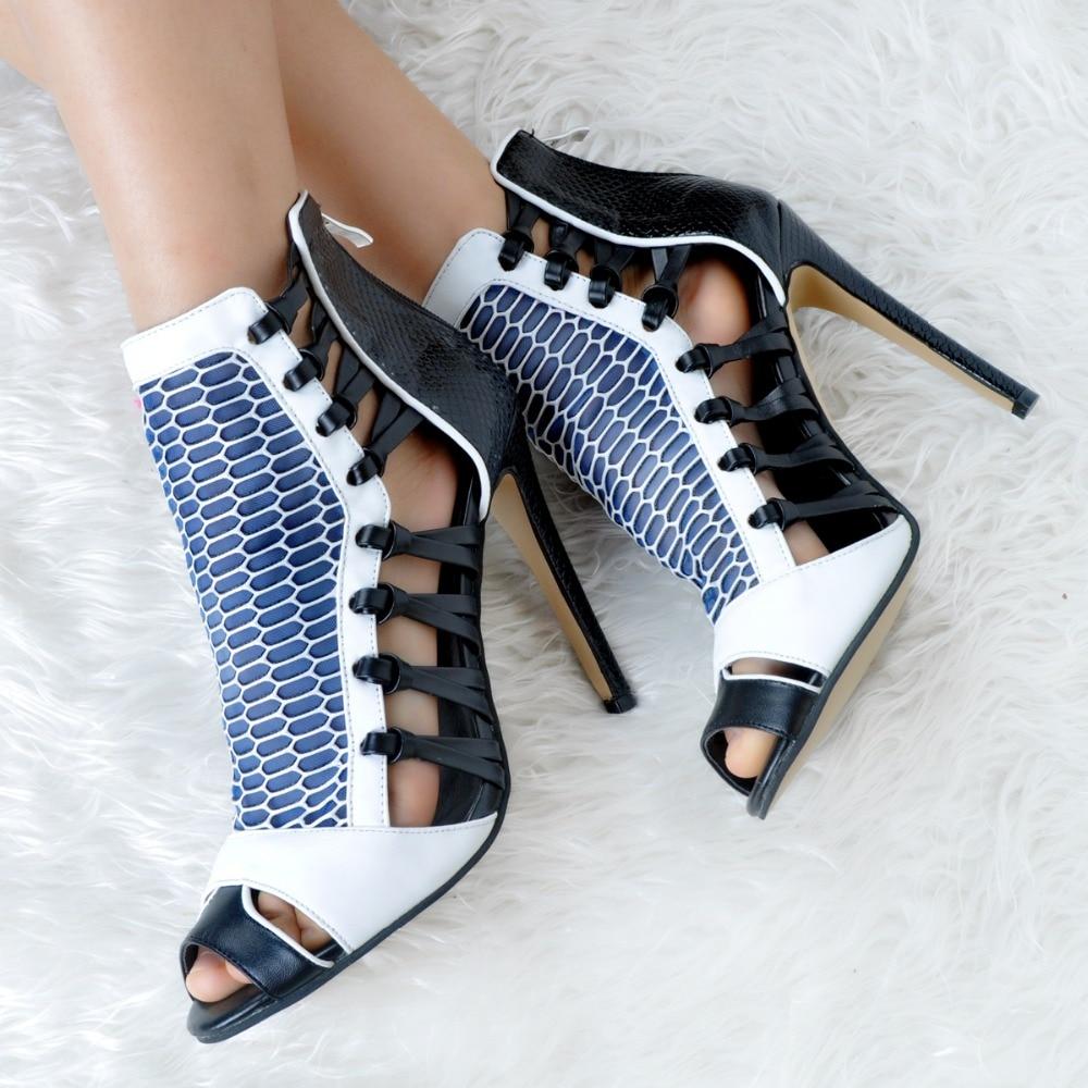 Sandales L'intention Taille Nouveau Muliticolors Chaussures Plus Talons Femme 4 Toe Style Xd267 Femmes Sexy Mode 15 Minces Peep Nous Initiale BRqqIwF