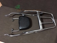 for Suzuki GN250 Stainless Steel Luggage Rack with Backrest Back Rest Rear Carrier Complete KIT for Suzuki GN250 all Models