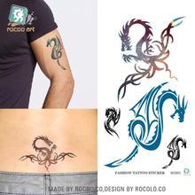 R3001 Harajuku Waterproof Disposable Tattoo Stickers Fashion Sexy Dragon Totem Design Water Transfer Temporary Tattoo Sticker