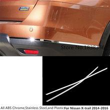 Para Nissan x-trail Xtrail T32/Rogue 2014 2015 2016, parachoques trasero, protección de esquinas, molduras de Marcos, tablero de borde de acero inoxidable, 2 uds.