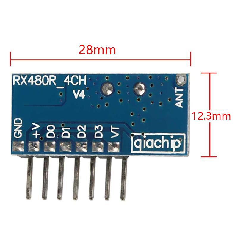 Image 3 - Wireless Wide Voltage Coding Transmitter Decoding Receiver 4 Channel Output Module for 433Mhz Remote Control KT02 4x3+RX480E 4-in Remote Controls from Consumer Electronics