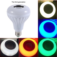 ICOCO Wireless Bluetooth Remote Control Mini RGB Smart Audio Speaker 24 LED E27 Music Bulb Colorful
