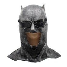 Adult Justice League Latex Batman Mask Cosplay Superhero Bruce Wayne Movie Party Masks Helmet Ball Props Costumes