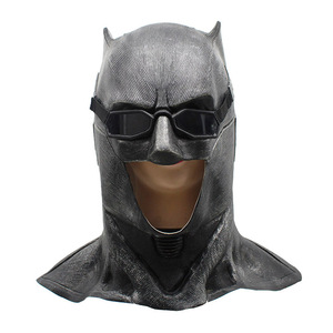 Image 1 - Adult Justice League Latex Batman Mask Cosplay Superhero Bruce Wayne Movie Party Masks Helmet Ball Props Costumes