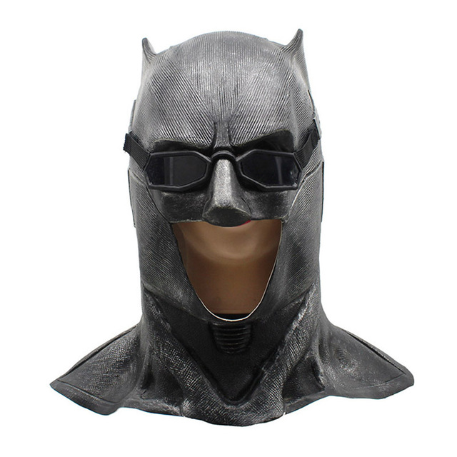 Adult Justice League Latex Batman Mask Cosplay Superhero Bruce Wayne Movie Party Masks Helmet Ball Props Costumes