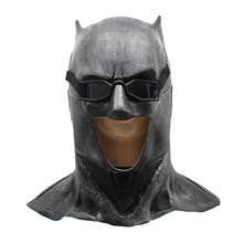 Volwassen Justice League Latex Batman Masker Cosplay Superhero Bruce Wayne Movie Party Maskers Helm Bal Props Kostuums