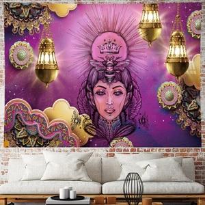 Image 5 - Marokko Psychedelic schönheit Tapisserie mandala Wandbehang hippies indian Home Decor böhmischen wand tuch Strand Matte GN. PAPAYA