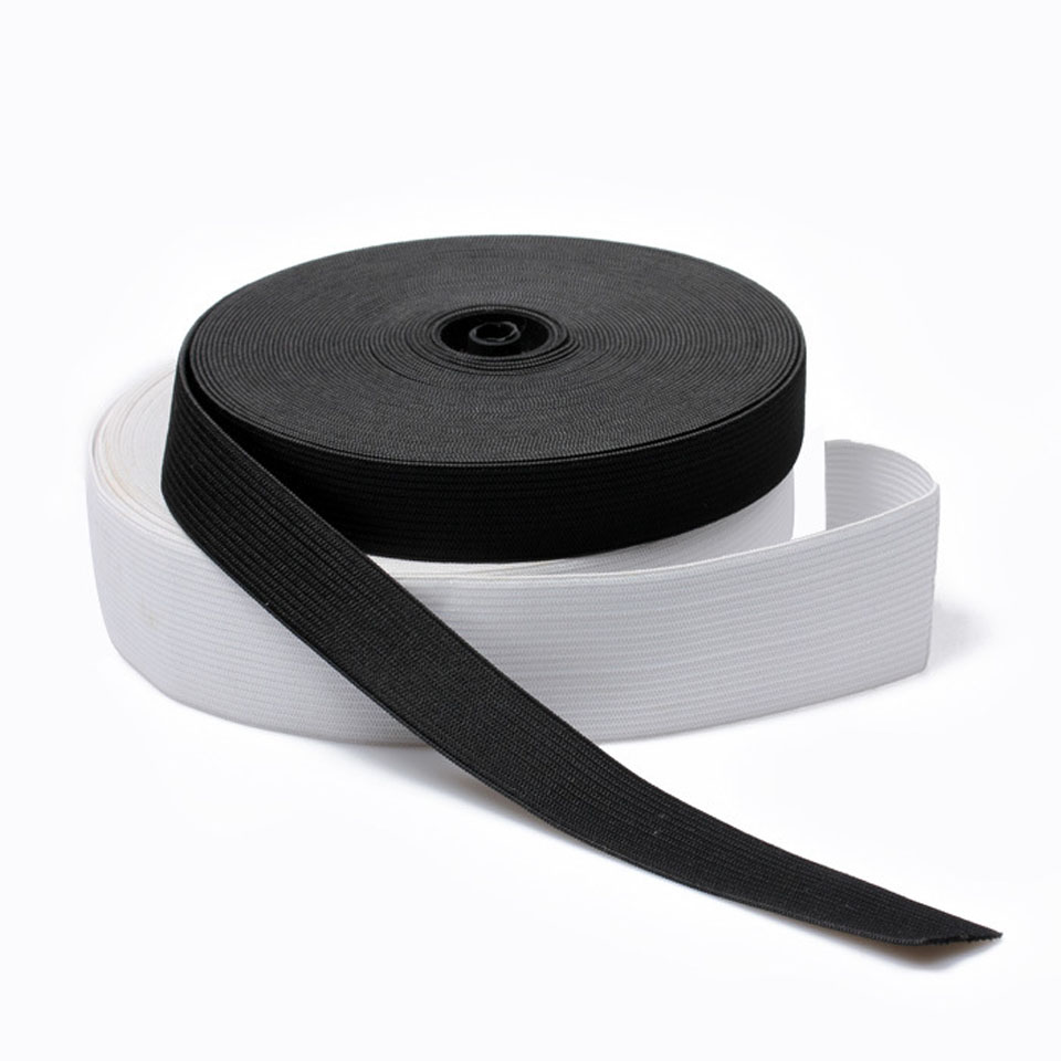 40 Meters Elastic Bands For Clothes Waistband White Black Elastic 4cm Ribbon Sewing Accessories 15/20/25/30/35/40/45/50/60mm