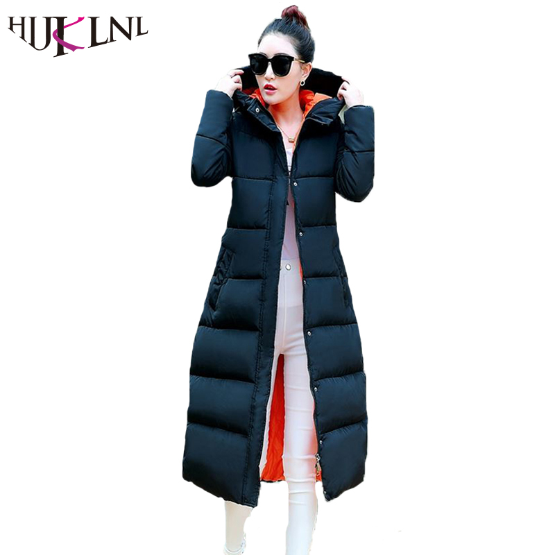 HIJKLNL 2017 New Cotton jacket Women Winter Jackets Long Jacket Women High Quality Warm Female Thickening