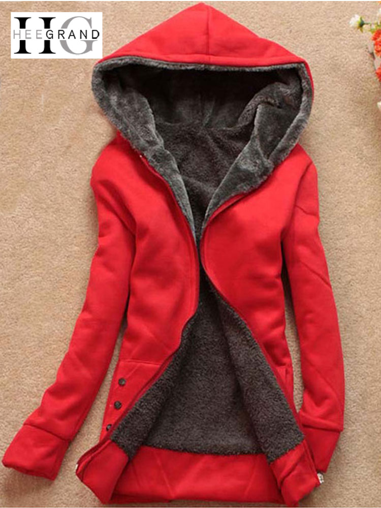 HEE GRAND Hooded Sweatshirt Women 2018 Autumn Casual Fleece Coat Plus Size 4XL Full Sleeve Long Hoodies Flocking Outwears WWW985