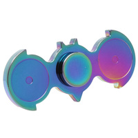 Rainbow Color Double bird Fingertip  Toy Metal HandSpinner For Autism/ADHD EDC Sensory  Spinner Focus Toy