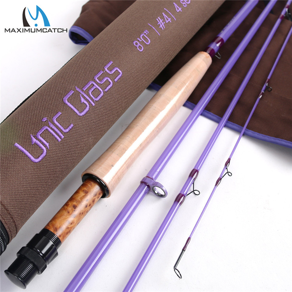 Maximumcatch Unic Fiberglass 3/4/5wt Fast Action Fly Fishing Rod 7/8/8.6ft Carbon Glass Blank Fly Rod Purple ColorMaximumcatch Unic Fiberglass 3/4/5wt Fast Action Fly Fishing Rod 7/8/8.6ft Carbon Glass Blank Fly Rod Purple Color