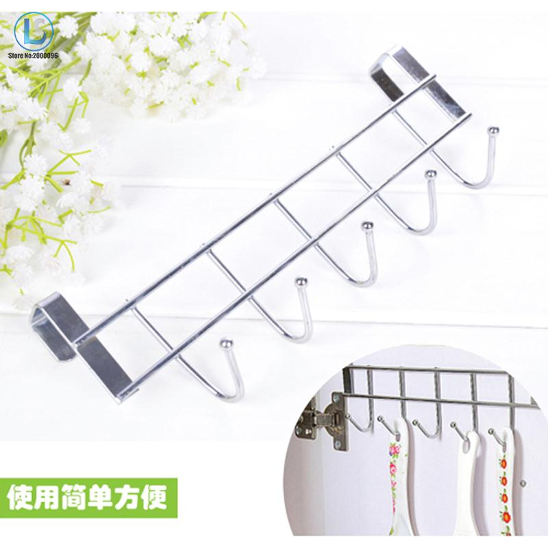 Over Door Home Coat Towel Hanger Bathroom Kitchen Rack Holder Shelf 5 Hooks Brand New A504