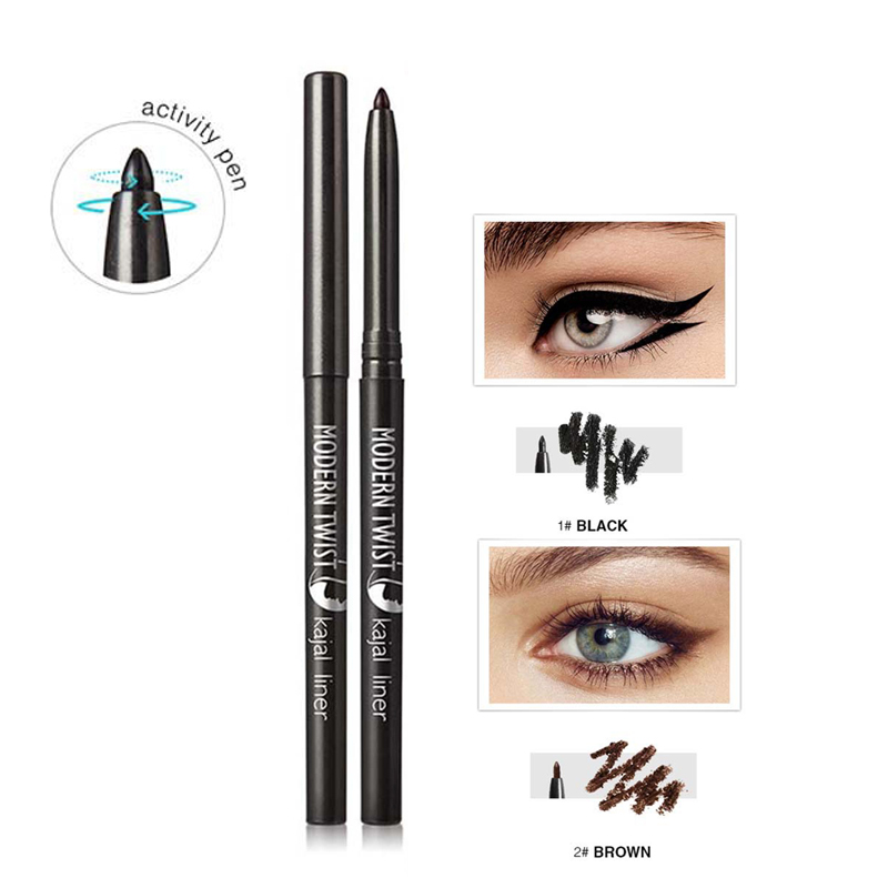 1pcs High Quality Smooth Waterproof Gel Eyeliner Pencils Black Brown Color Pigments Eyeliner Eye Liner Pen Beauty Tools