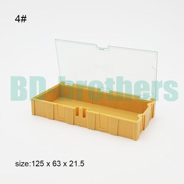 6db286ca2fb Original 4   Amarelo Quadrado caixa de armazenamento de Componente IC SMT  SMD Caixas Componentes Wentai