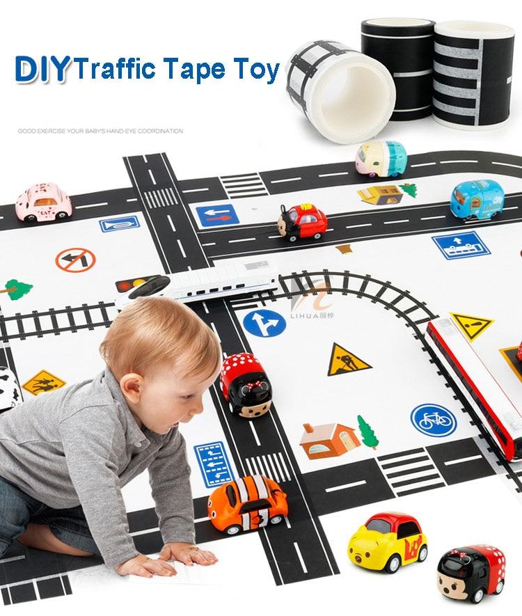 NEW DIY Tape Toy Highway Railway Design More Types Avaliable Parking Scene Toys Parking Scene Best Gift For Children