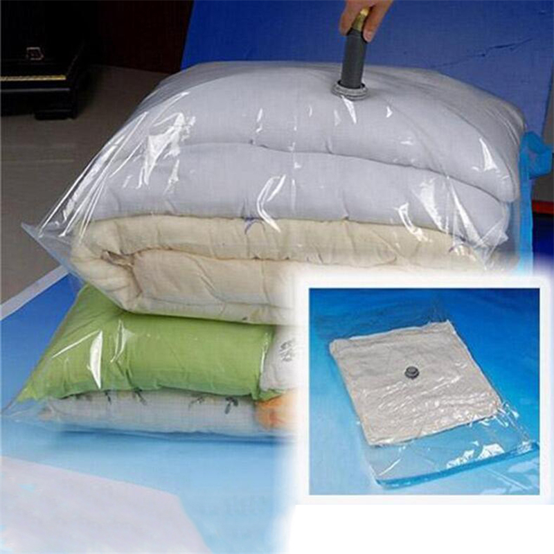 Large Vacuum Bag For Clothes Quilt Transpa Border Foldable Compressed Pillow Organizer Storage E Saving Seal Bags
