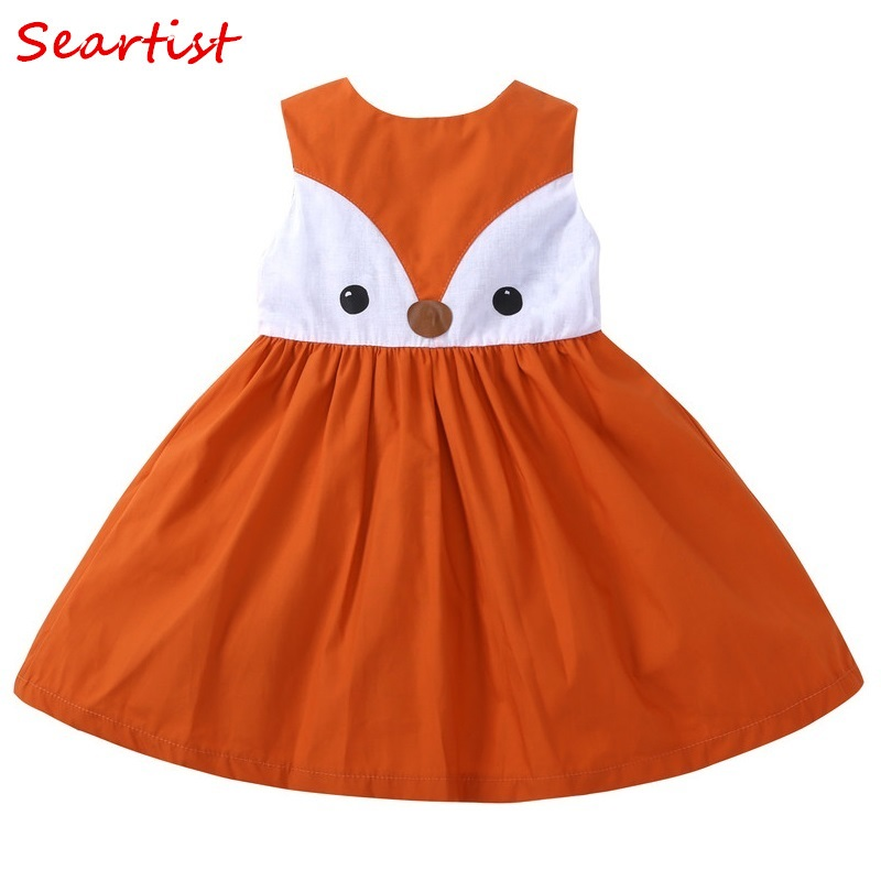 Seartist 2018 New Baby Girls Fox Dress Sleeveless Spring Summer Casual Princess Dresses Girls Girl Kids Baby Gil Clothes 40 ...