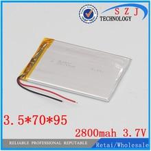 Новинка 2800 мАч литий-ионный аккумулятор для планшетного ПК 7,8, 9 дюймов планшетный ПК ICOO 3,7 в полимерный литиевый аккумулятор высокого качества