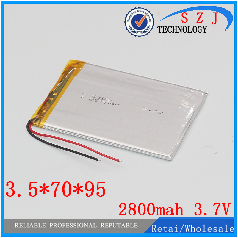 New 2800mah Li-ion Tablet pc battery For 7,8,9 inch tablet PC ICOO 3.7V Polymer lithiumion Battery High Quality Free shipping