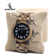 BOBO BIRD O21 O22 Mens Verawood Wooden Wristwatch Top Brand Luxury Quartz Wristwatch with Fold the strap Wood Band in Gift Box