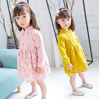 Cute Baby Girl Lace Dress Children Kids Girls Chinese Style Dresses One Piece Autumn Clothing For