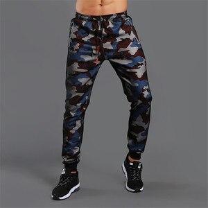 Image 2 - Новинка 2020! Мужские штаны высокого качества, штаны для бега, камуфляжные штаны для спортзала, Мужские штаны для фитнеса, бодибилдинга, штаны, одежда для бега, спортивные штаны