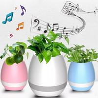 2017 Universal Smart Flower Pots Music Bluetooth Speaker With Touch Sensors With LED Decoration Night Light New Arrival