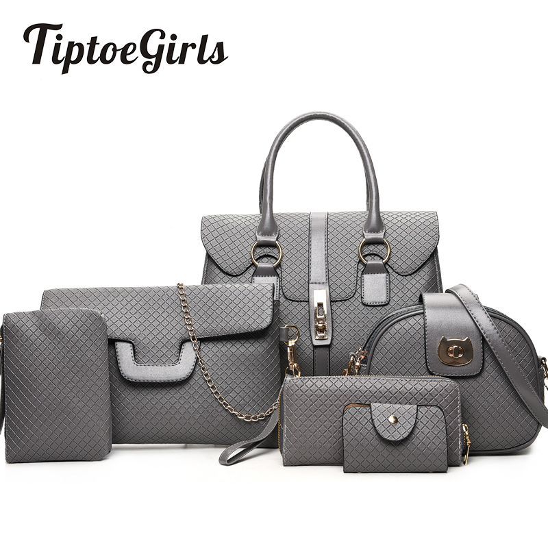New Wild Child Bag Fashion Shoulder Diagonal Ladies Tide Fashion Six-Set Ling Check Handbag wild child