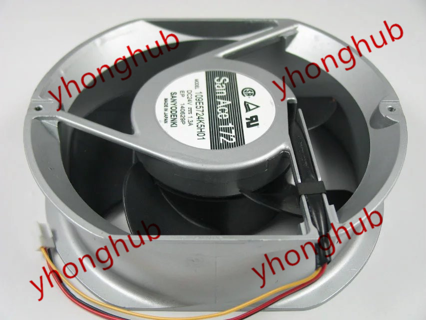 Free Shipping For SANYO 109E5724K5H01 DC 24V 1.3A 3-wire 3-pin 172x172x51mm Server Round fan free shipping 370 6072 03 540 6706 01 server fan for sun netra440 n440 tested working