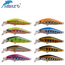 Купить с кэшбэком Smart Sinking Minnow Lure 5cm 5.16g Artificial Hard Bait Plastic Bait Fishing Tackle with VMC Hook Leurre Peche Fishing Wobblers