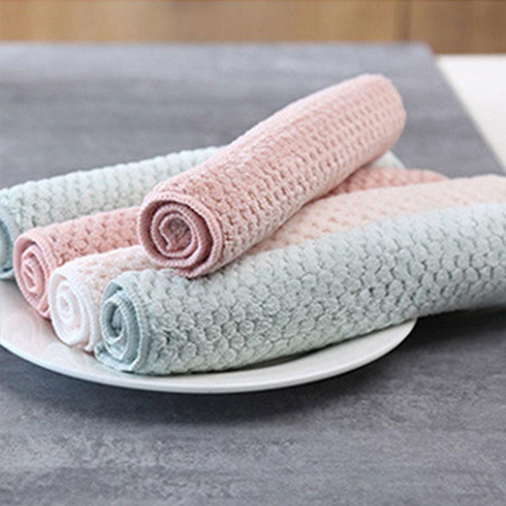 Салфетка для чистки кухни многоразовая 2 шт. коралловый флис резервуар для воды полотенце кухонные инструменты раковина Прямая