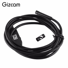 Gizcam 2m 6LED 7mm Lens USB Waterproof Endoscope Tube Inspection Camera