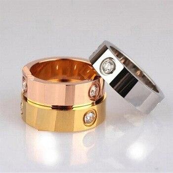 Nuevo logo marca titanium acero tornillo carter amor anillos para las mujeres hombres joyería de la boda pareja regalo Pulseira feminina al por mayor