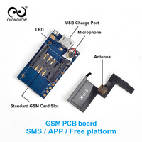 38 21mm Mini GPS GSM Tracker PCB Board With Antenna Microphone Micro USB Charge Port SMS