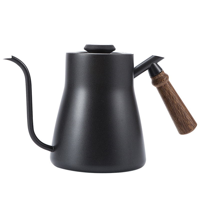 Hand-Made Coffee Pot, Stainless Steel Gooseneck Tea Kettle Long Narrow Spout Coffee Maker