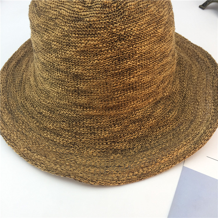 Summer New Style Hat Lady Cotton Collapsible Sun Protection Hat Outdoor Travel Casual Beach Bucket Hats ACF17 (10)