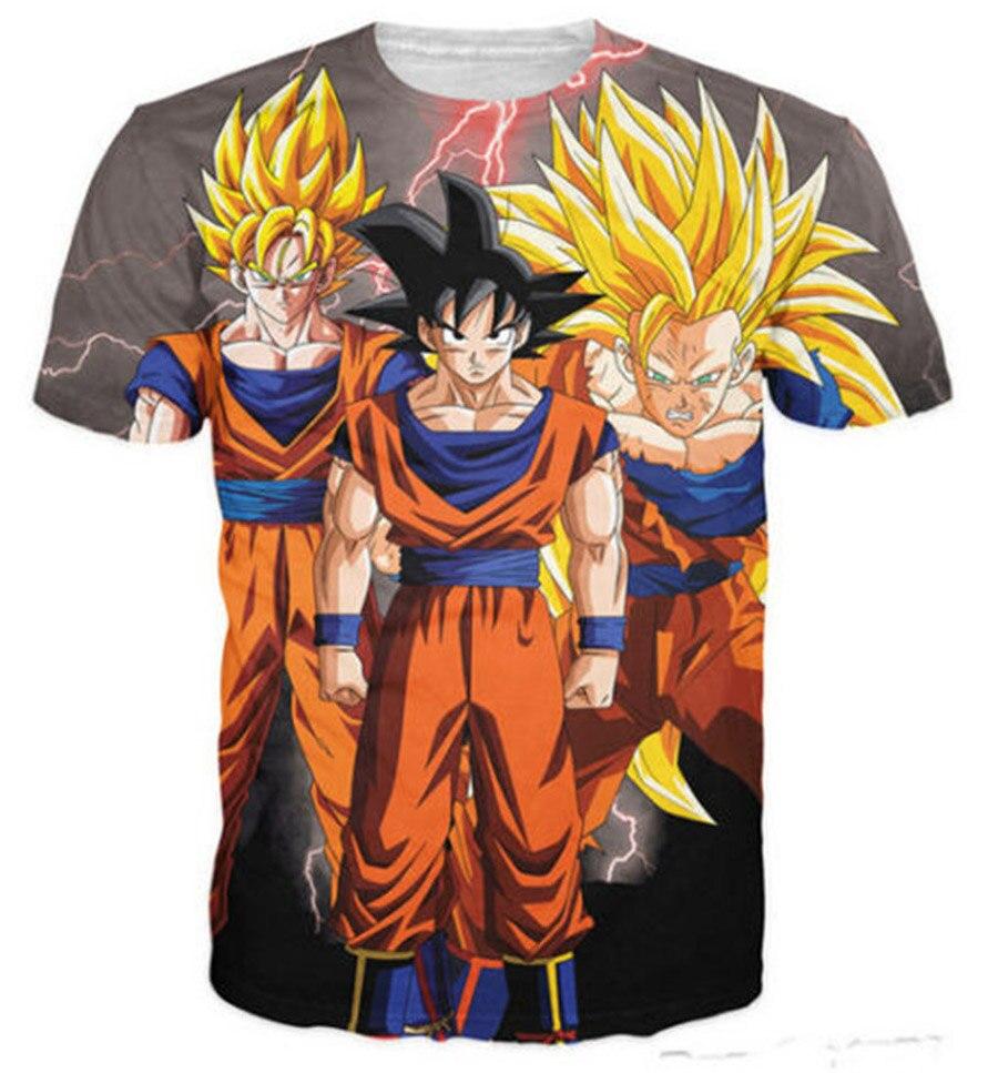 New fashion 2018 men/women's 3D t-shirt graphic print anime Goku Dragon Ball funny t shirt cute cartoon causal tops tees