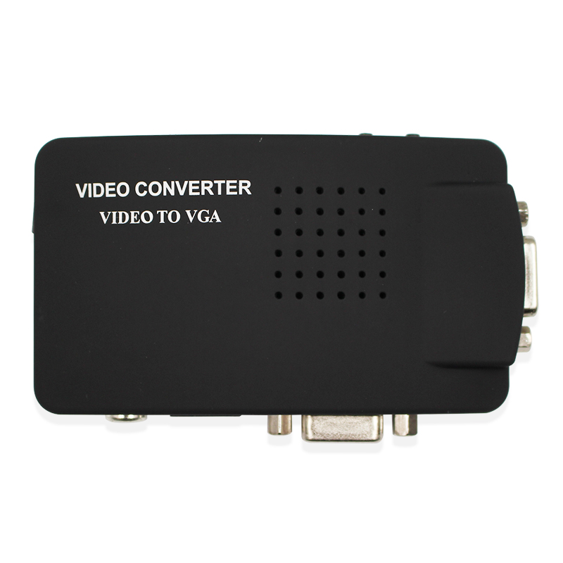S-video composite RCA AV Video to VGA converter for TV to PC converter(VGA cable is not included) ...