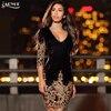 Adyce 2017 Chic Summer Dress Fashion Women O Neck Half Sleeve Sequin Mini Dress Celebrity Evening